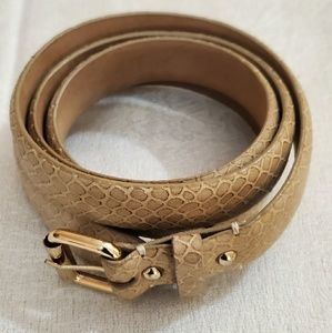 Ann Taylor Beige Snake Print Belt (M) #401